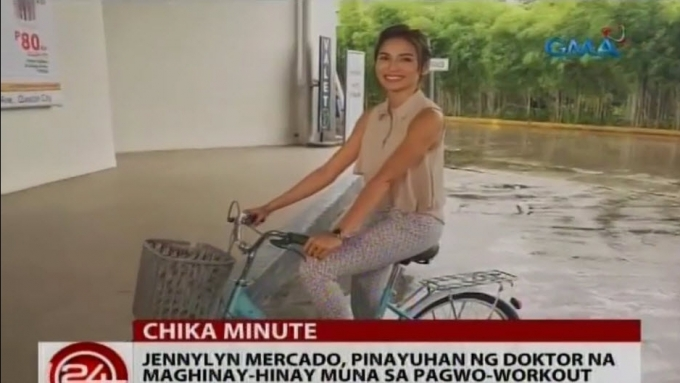Jennylyn Mercado stops from sports training