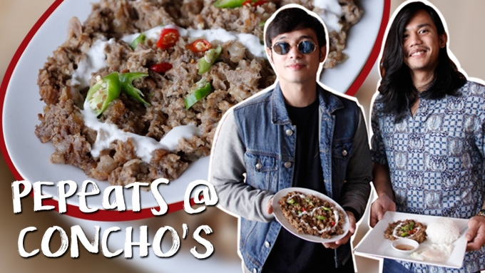 PEP EATS @ Concho's the home of Sisig Goodness