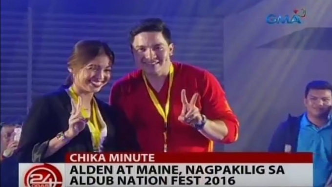 What is Alden's reply when asked to kiss Maine?