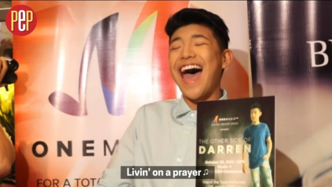 Darren Espanto sings 'Livin' On A Prayer' a capella