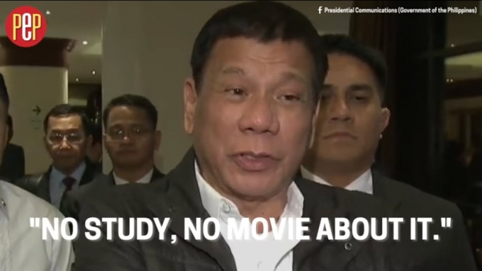 Film org counters Duterte's claim about Marcos rule