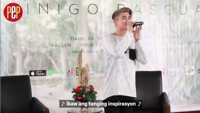 WATCH: Iñigo Pascual performs 'Dahil Sa 'Yo'