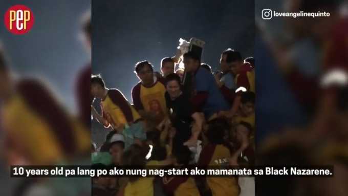 Angeline Quinto and her 'panata' to the Black Nazarene