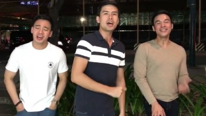 Erik, Christian, Mark show their support for Maxine