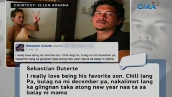 Baste messages dad Pres. Duterte re breakup with Ellen
