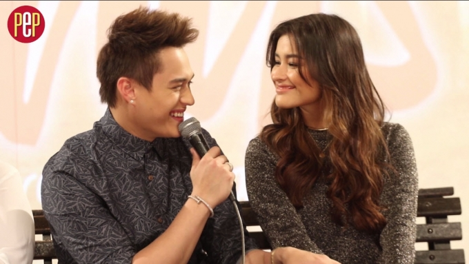 Enrique Gil tries to imitate the way Liza Soberano talks