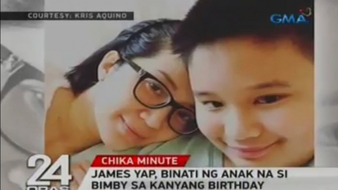 James Yap gets video greeting from Bimby