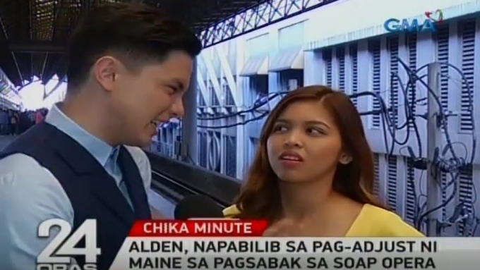Aldub shoots scene in crowded LRT station
