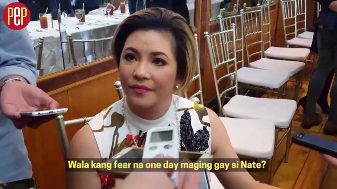 Reporter to Regine: What if Nate grows up gay?