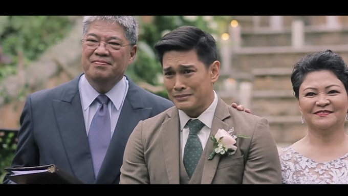 WATCH: Luis Alandy gets emotional on his wedding day