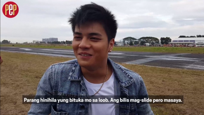 What made Ronnie Alonte say 'ang sakit sa puson!'
