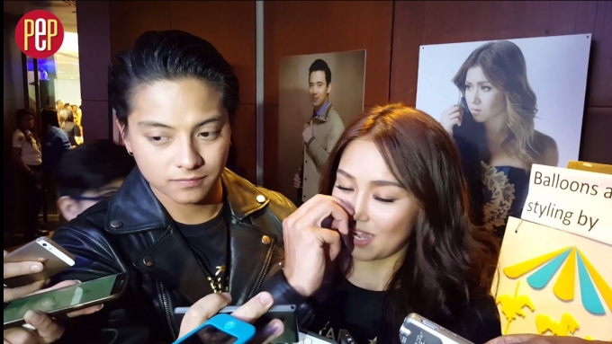 Did Daniel just pick Kathryn's nose in this interview?