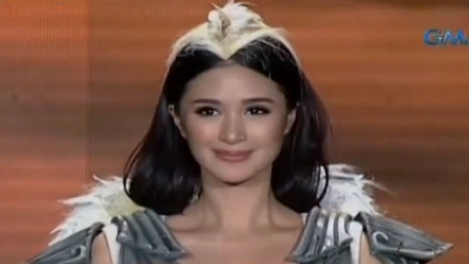 Heart Evangelista undergoes harness training