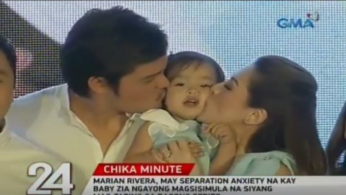 Baby Zia charms audience