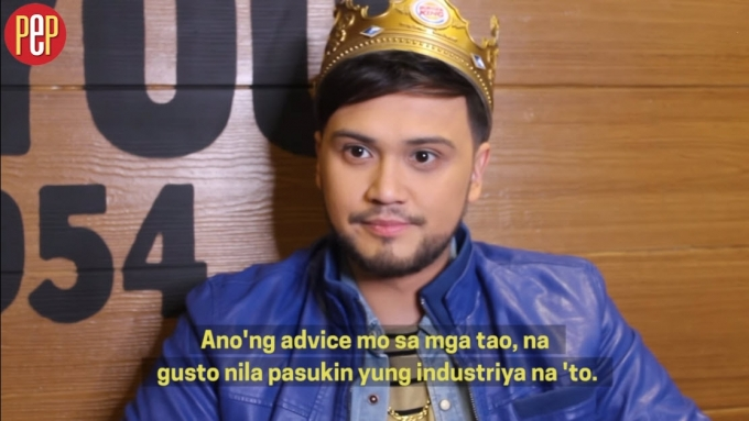 Billy gives advice to people who want to enter showbiz