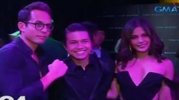 Lovi Poe and rumored boyfriend at Brian Llamanzares's party