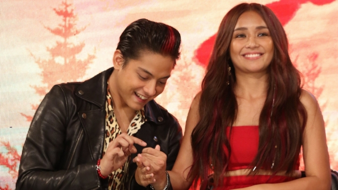 Kathryn's reaction to Daniel's 'Im very proud of her'
