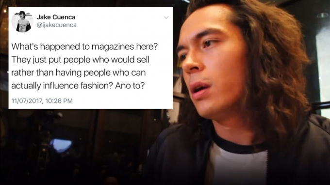Jake Cuenca on his controversial tweet about magazines