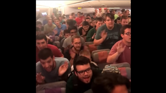 Ryan Cayabyab's song performed by American choir in plane
