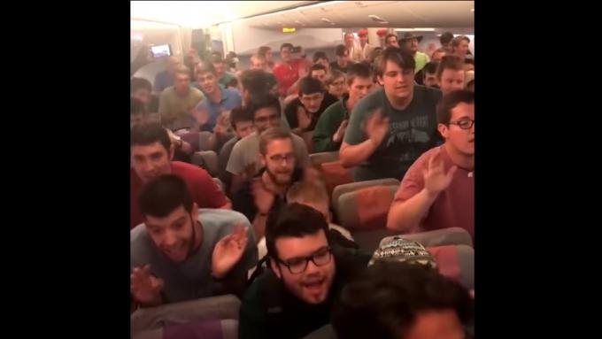 Ryan Cayabyab's song performed by American choir in plane