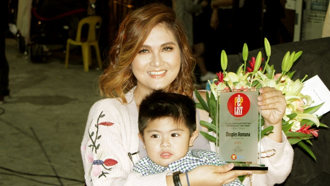 Dimples Romana's message to moms in acceptance speech