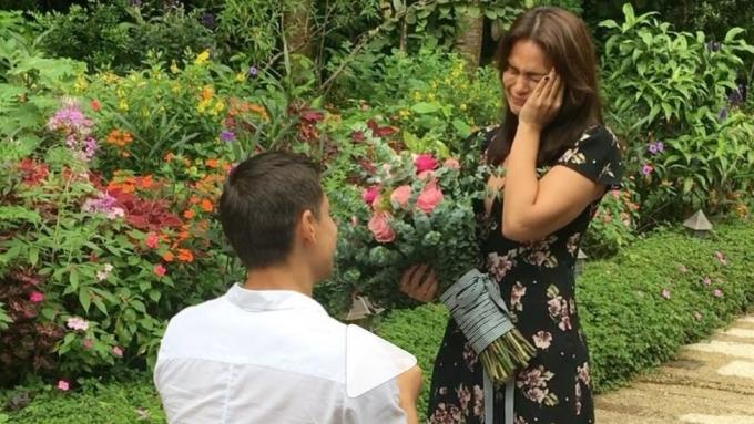 Iza Calzado's reaction to Ben Wintle's marriage proposal