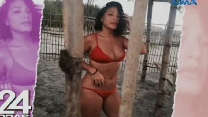 Rita Daniela sizzling in beach bikini photos