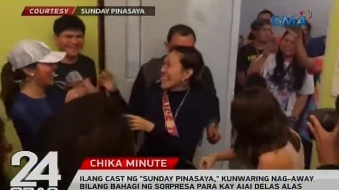"Sunday PinaSaya cast members surprise Ai-Ai after ""fight"""