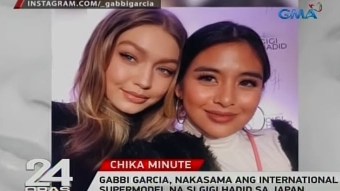 Gabbi Garcia meets Gigi Hadid in Japan