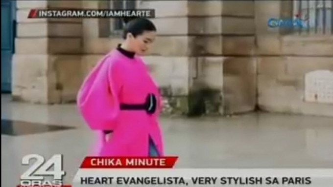 Heart Evangelista stylish in Paris