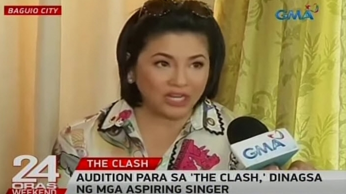 Regine did more than hosting during auditions for The Clash