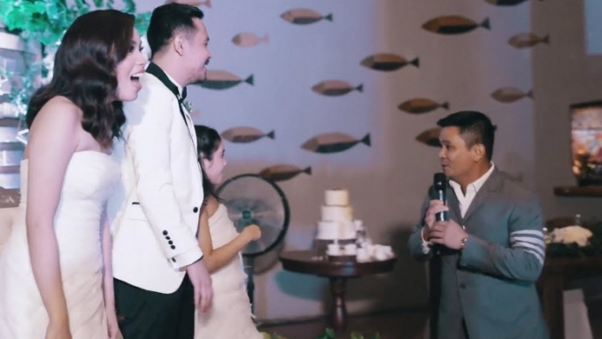 Ogie Alcasid gatecrashes a wedding