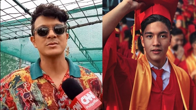 What does Jericho Rosales's son Santino tell him about his w