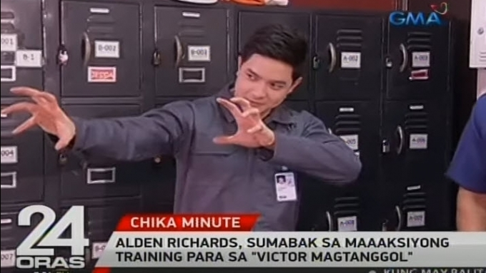 Alden shows what he got from intense training for new show