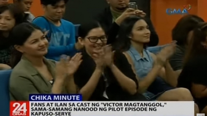 Lucky fans and Victor Magtanggol stars watch pilot episode