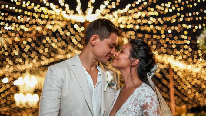 Watch the best shots from Iza Calzado and Ben Wintle wedding