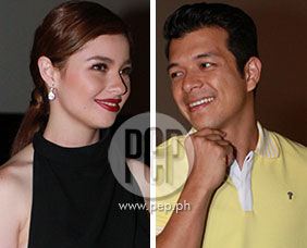 "Andi Eigenmann, Jericho Rosales at the premiere of ""ABNKKBSANPLA"