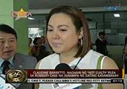 "Claudine Barretto pleads ""not guilty"" on robbery case file"