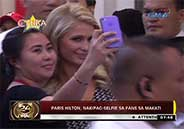 """Paris Hilton poses """"selfies"""" with fans in Makati City"""