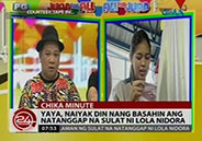 Yaya Dub cries after reading Lola Nidora's letter