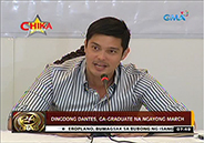 Dingdong Dantes will graduate in college this March
