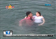 Jennylyn Mercado stung by jellyfish while taping Rhodora X