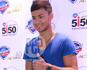 Matteo Guidicelli talks about getting fit for his upcoming triathlon