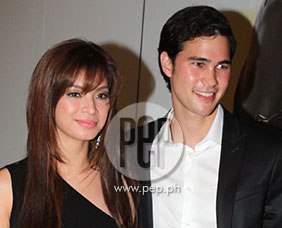 "Angel Locsin and Phil Younghusband at the premiere night of ""Fou"