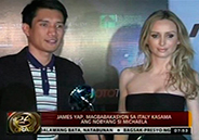 James Yap to go to Italy with girlfriend Michela Cazzola