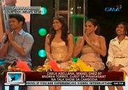Carla Abellana, Mikael Daez, Andrea Torres guest on talk show in Cambo