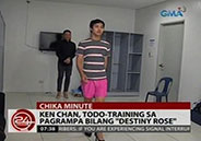 "Ken Chan training hard for his catwalk in ""Destiny Rose&q"