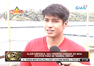 "Aljur Abrenica trains with dolphins for role in ""Kambal Sirena&"