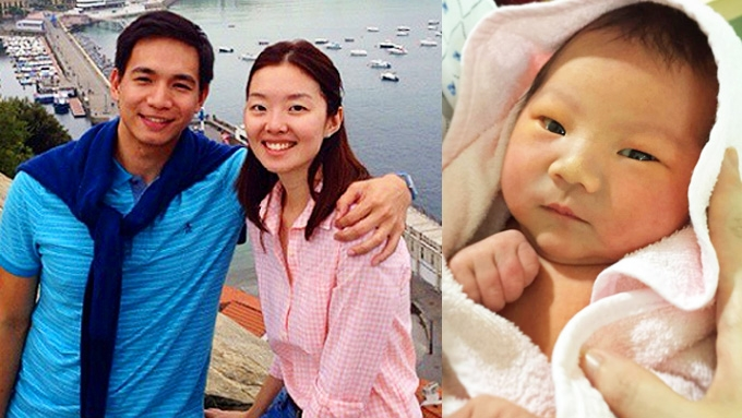 Meet the baby of Chris Tiu and wife Clarissa