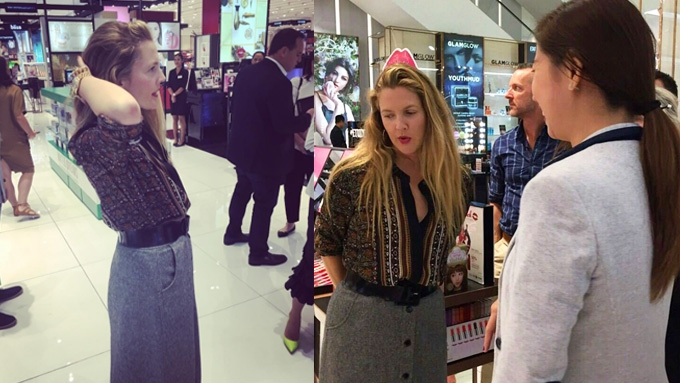 Drew Barrymore spotted in Makati